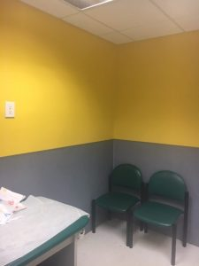 yellow with wallboard
